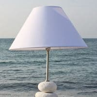Ocean Wave Table Lamp | Pebble Table Lamp | Beach Lamp
